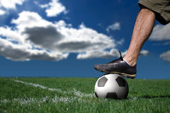 ποδόσφαιρο φορέων Στοκ Εικόνα
