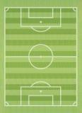 ποδόσφαιρο χλόης πεδίων απεικόνιση αποθεμάτων