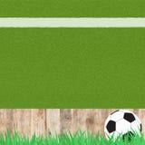ποδόσφαιρο χλόης ποδοσφαίρου στοκ φωτογραφίες με δικαίωμα ελεύθερης χρήσης