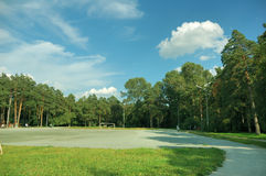ποδόσφαιρο χώρων Στοκ εικόνες με δικαίωμα ελεύθερης χρήσης