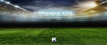 Ποδόσφαιρο bal Ποδόσφαιρο Στοκ Φωτογραφία
