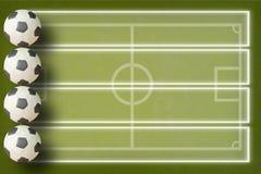Ποδόσφαιρο Plasticine στοκ φωτογραφία με δικαίωμα ελεύθερης χρήσης