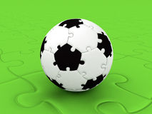 Ποδόσφαιρο PuzzleBall Στοκ Εικόνες