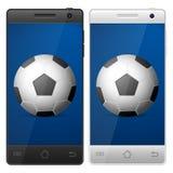 Ποδόσφαιρο Smartphone Στοκ Εικόνα