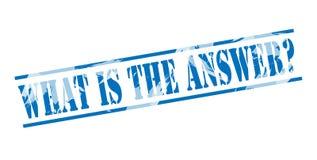 Ποια είναι η απάντηση; μπλε γραμματόσημο Στοκ εικόνες με δικαίωμα ελεύθερης χρήσης