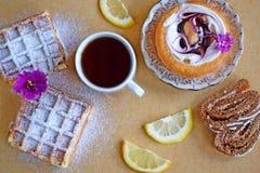 Ποικίλα γλυκά για το τσάι στοκ φωτογραφία