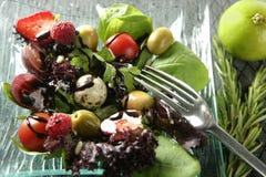 ποικίλα σαλάτα λαχανικά &kapp Στοκ Φωτογραφίες