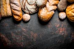 Ποικίλα ψωμιά στοκ εικόνα