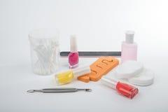 ποικίλα εργαλεία για το μανικιούρ Στοκ Φωτογραφία