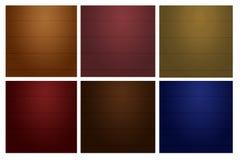 Ποικίλτε την ξύλινη σύσταση τοίχων οριζόντιων γραμμών χρώματος Στοκ Εικόνα