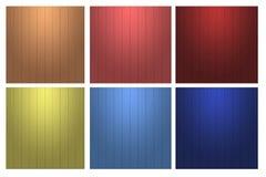 Ποικίλτε χρώματος την κάθετη σύσταση τοίχων γραμμών ξύλινη Στοκ Εικόνες