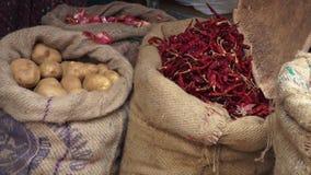 Ποικιλία των λαχανικών σε Cochin, Ινδία απόθεμα βίντεο