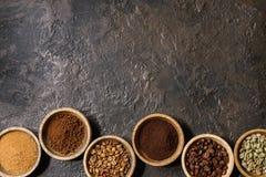 Ποικιλία των φασολιών καφέ Στοκ Εικόνα
