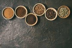 Ποικιλία των φασολιών καφέ Στοκ φωτογραφίες με δικαίωμα ελεύθερης χρήσης