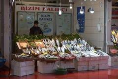 Ποικιλία των ψαριών στην αγορά ψαριών της Ιστανμπούλ Στοκ φωτογραφία με δικαίωμα ελεύθερης χρήσης