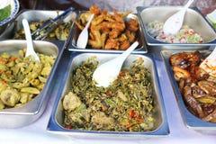Ποικιλίες των παραδοσιακών τροφίμων της Μαλαισίας Στοκ Φωτογραφίες