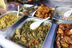 Ποικιλίες των παραδοσιακών τροφίμων της Μαλαισίας Στοκ φωτογραφία με δικαίωμα ελεύθερης χρήσης