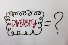 Ποικιλομορφία κειμένων γραψίματος λέξης Επιχειρησιακή έννοια για να αποτελέσθείται από τα διαφορετικά μηνύματα ιδεών Multiethnic  στοκ εικόνες