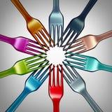 Ποικιλομορφία στα τρόφιμα διανυσματική απεικόνιση