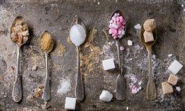 Ποικιλία της ζάχαρης στοκ εικόνες