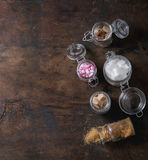 Ποικιλία της ζάχαρης στοκ φωτογραφία