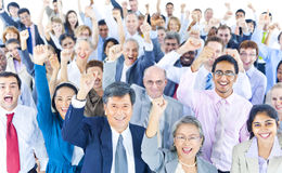 Ποικιλομορφίας κοινοτική έννοια ομάδας επιχειρηματιών εταιρική Στοκ εικόνα με δικαίωμα ελεύθερης χρήσης