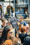 Ποιμένας θάλασσας που διαμαρτύρεται ενάντια στην πειραματική σύλληψη φαλαινών σφαγής Στοκ εικόνες με δικαίωμα ελεύθερης χρήσης