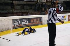 ποινική ρήτρα χόκεϋ παιχνιδιών Στοκ Φωτογραφία