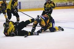 ποινική ρήτρα χόκεϋ παιχνιδιών Στοκ φωτογραφίες με δικαίωμα ελεύθερης χρήσης