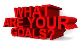 Ποιοι είναι οι στόχοι σας; απεικόνιση αποθεμάτων