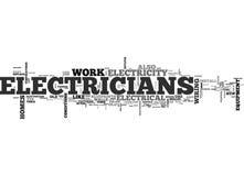 Ποιος Electricians Can Do Word Cloud Στοκ Φωτογραφία