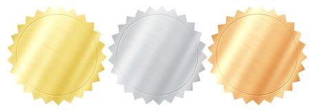 Ποιοτικές σφραγίδες μετάλλων στοκ εικόνες με δικαίωμα ελεύθερης χρήσης