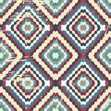 Ποιοτική διανυσματική απεικόνιση σχεδίων χρώματος αφηρημένη γεωμετρική άνευ ραφής για το σχέδιό σας Στοκ Φωτογραφίες