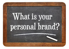 Ποιο είναι το προσωπικό εμπορικό σήμα σας; στοκ φωτογραφίες με δικαίωμα ελεύθερης χρήσης