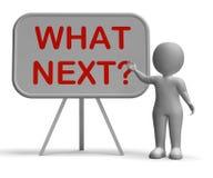 Ποιο επόμενο Whiteboard σημαίνει μετά από τις διαδικασίες Στοκ Φωτογραφίες