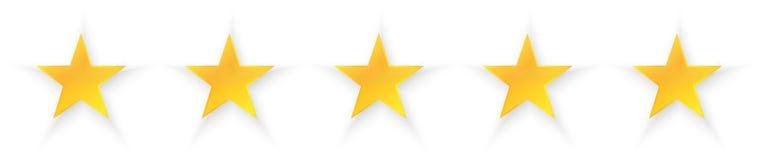 Ποιότητα πέντε αστεριών Στοκ φωτογραφίες με δικαίωμα ελεύθερης χρήσης