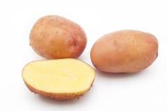 Ποιότητα των πατατών Αρόζα η ανασκόπηση απομόνωσε το λευκό Στοκ Εικόνα