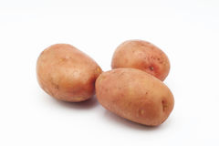 Ποιότητα των πατατών Αρόζα η ανασκόπηση απομόνωσε το λευκό Στοκ Φωτογραφίες