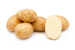 Ποιότητα των πατατών Riviera Απομονωμένος στο άσπρο backgrou Στοκ εικόνες με δικαίωμα ελεύθερης χρήσης