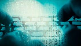 Πολεμική επίθεση Cyber, μυθιστοριογραφία εγκλήματος πληροφοριών στοκ εικόνες με δικαίωμα ελεύθερης χρήσης