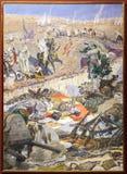 Πολεμική σκηνή Rif Ήττα των ισπανικών στρατευμάτων τον Ιούλιο του 1921 περιοχών Igueriben στοκ εικόνα