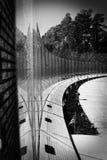 Πολεμικός αναμνηστικός τοίχος γραπτό Τζάκσονβιλ, NC του Βιετνάμ Στοκ φωτογραφίες με δικαίωμα ελεύθερης χρήσης