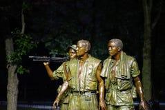 Πολεμικό άγαλμα παλαιμάχων του Βιετνάμ - 3 στρατιώτες Στοκ φωτογραφία με δικαίωμα ελεύθερης χρήσης