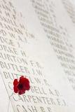 Πολεμικό νεκροταφείο - Somme - Γαλλία Στοκ Φωτογραφία