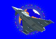 πολεμικό τζετ Στοκ εικόνα με δικαίωμα ελεύθερης χρήσης