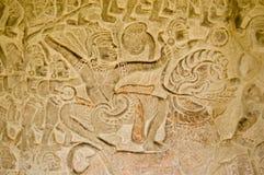 πολεμιστής λιονταριών μάχης angkor wat Στοκ φωτογραφία με δικαίωμα ελεύθερης χρήσης