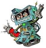 πολεμιστής ψεκασμού 01 humanbot Στοκ Φωτογραφίες