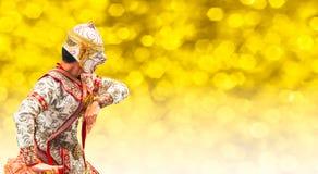 Πολεμιστής Hanuman, ο Θεός του πιθήκου στην ιστορία Ramayana Στοκ Φωτογραφία