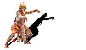 Πολεμιστής Hanuman, ο Θεός του πιθήκου στην ιστορία Ramayana Στοκ Εικόνες