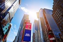 ΠΟΛΗ ΤΗΣ ΝΕΑΣ ΥΌΡΚΗΣ - 14 ΙΟΥΝΊΟΥ 2016: Times Square ΗΠΑ Στοκ εικόνα με δικαίωμα ελεύθερης χρήσης